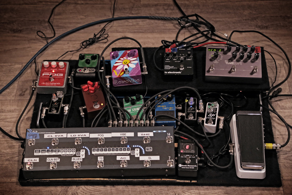 andy timmons 39 pedalboard guitarpedals. Black Bedroom Furniture Sets. Home Design Ideas