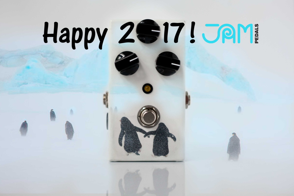 jampedals handmade analog pedals new year penguins-2017