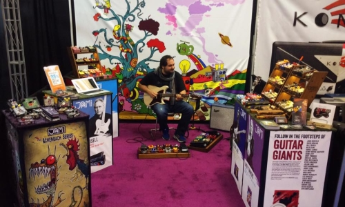 NAMM show 2017 – JAM pedals booth