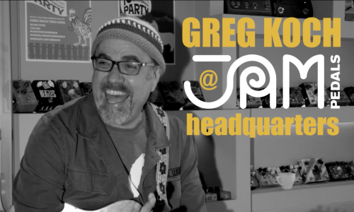 Greg Koch | Interview @ JAM pedals headquarters