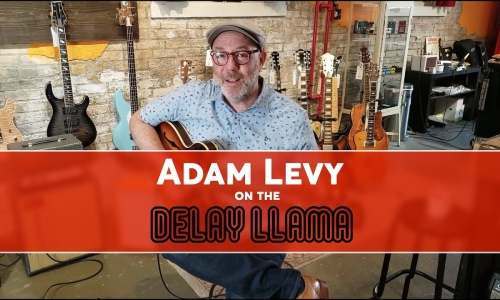 Adam Levy discusses the Delay Llama @ El Diablo Amps & Guitars